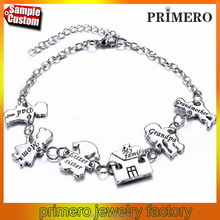 Multi Styles Unisex Pendant Jewelry My Love Family Members Charms Bracelet