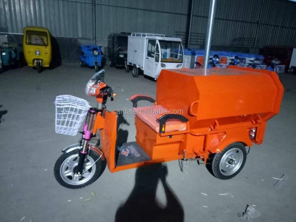 electric garbage tricycle for in China for sale