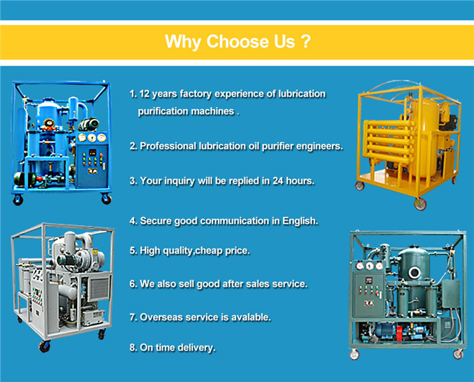 Oil Water Separating Machine, Turbine Oil Purifier, Oil Recycling Plant