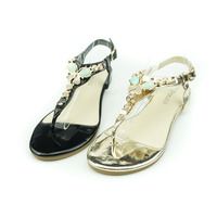 magnificent bling fancy set drill for party flat ladies sandals