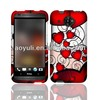 phone case for HTC Desire 601 Zara, romantic red heart cell phone case for HTC 601