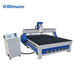 China factory price 9kw air cooling vacuum table dust collector linear type 8 tools auto tool change atc wood cnc router 2030