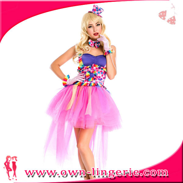 2016 Sexy carnival fancy costume hot candy girl kostume in pink