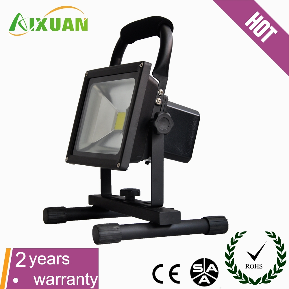 battery operated led emergency flood light with car plug and conventional plug