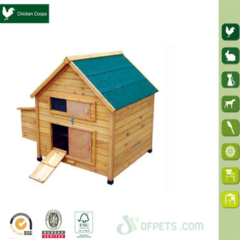 DFPets DFC001FR-L Cheap Wooden Chicken Coop