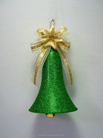Custom Hanging outdoor Bell shaped christmas ornaments