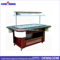 Restaurant Salad Buffet Equipment / Refrigerators with Marble counter top