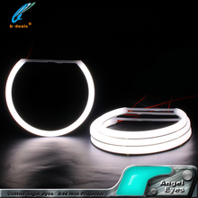 guangzhou china supply new products auto car led headlights white color cotton light angel eyes for car