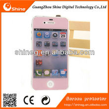 High quality,clear view 3D color pink diamond screen protector for iphone 5 5s 5c