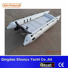 4.3m aluminum floor inflatable catamaran boat