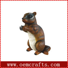 Polyresin squirrel OEM Landscaping stones