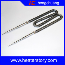 Custom Energy Saving w Shaped Finned Straight Heating Elements