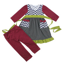 2017 latest deisgn spring long sleeve 100 cotton toddle children chevron whlesale newborn baby caters Kids Branded Clothes