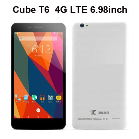 "Cube T6 4G LTE Phablet Tablet PC 6.98"" 1024*600 Android 5.1 Lollipop MTK8735 1GB RAM 8G ROM GPS WiFi Dual SIM 2600mAh"