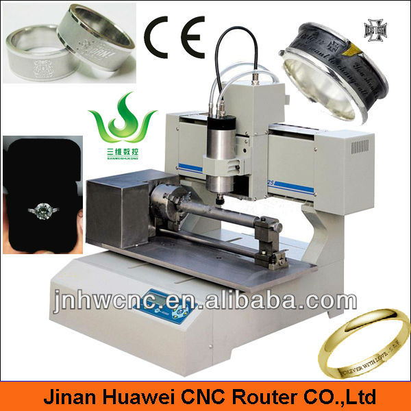 Sanwei mini portable desktop 3030 metal cnc ring engraving machine