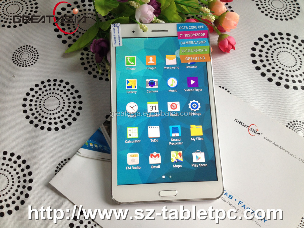 Octa Core 3G 7 inch tablet pc 3G calling with Bluetooth GPS FM 3G phone call function tablet pc