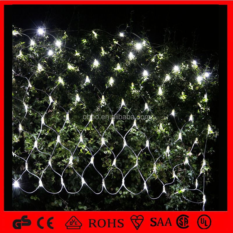 holiday time decorative red LED fish net light