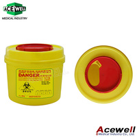 Acewell Medical Waste Needle Disposable Sharp Box/Container/Bins For Hospital