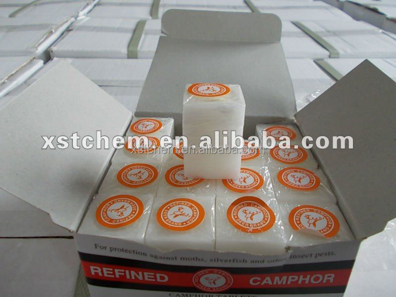 High Quality Deer Brand 96% Pure Camphor Tablets/Blocks
