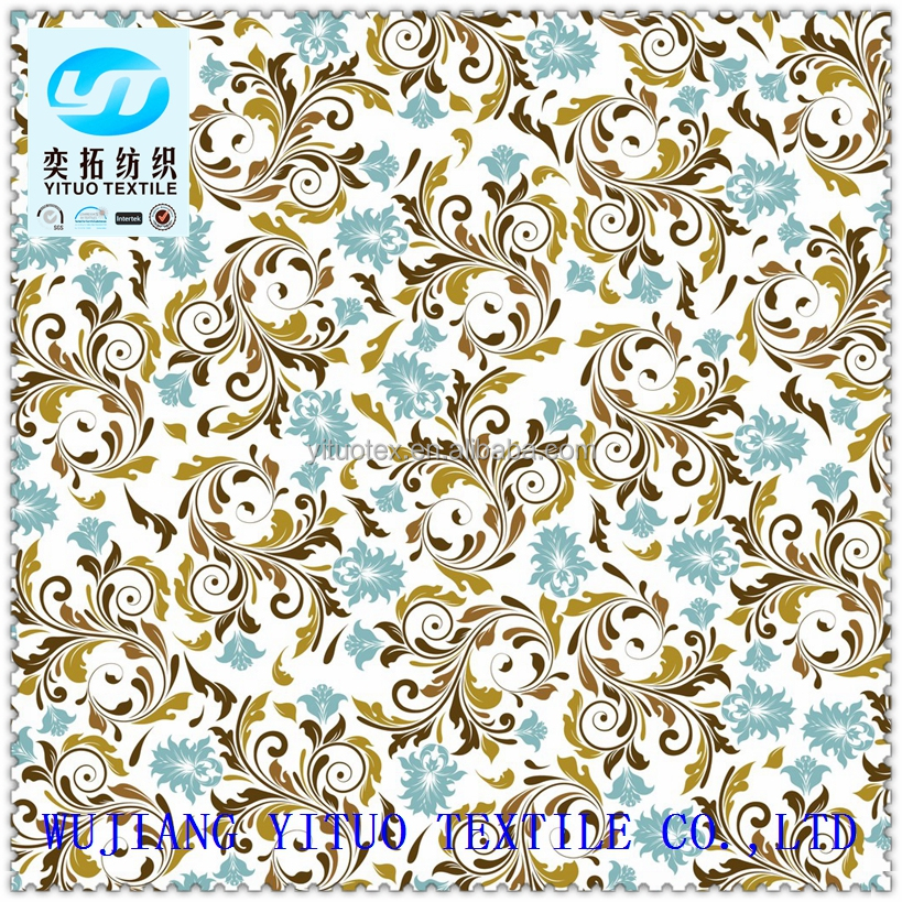 YT Hi-Q Low price Wholesale 100% polyester ankara flower imitated silk printed chiffon fabric