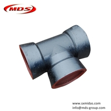 water pipeline Ductile Iron Pipe Fittings all socket end equal tee for ductile iron pipe connection use
