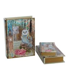 The forest leather old owl book box