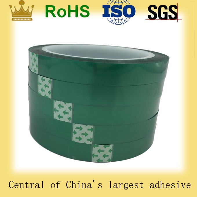 Silicone adhesive green single coat polyester pet film