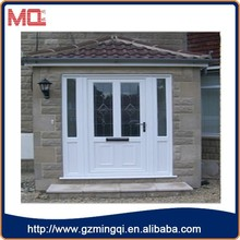 Modern design pvc double soundproof glass interior contemporary door for house