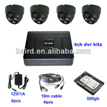 full d1 4 channel real time mini cheap security camera dvr p2p hdmi output