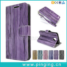 New Design Bamboo Wood PU Leather Phone Case For Blu Studio C Hd