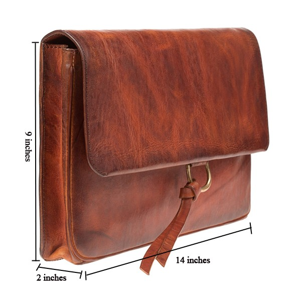 Simple Style Genuine Leather Clutch Brown Leather Lady Clutch Bag