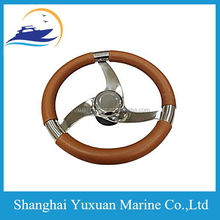 Nice 13.5 Inch Steering Wheel W/PU Foam & Leather Covering Boat Steering Wheel