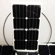 Marine ETFE Flexible Solar Panel 25W Sunpower with TUV ,MCS ,UBNS,IEC,ROHS certificate