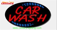 car wash animated led sign
