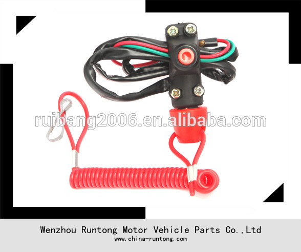 Motorcycle ATV Racing Engine Stop Tether Closed Kill Switch Push Button TRX