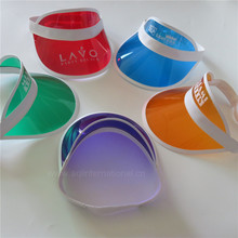 Custom cheap plain cap printing multicolor plastic sun visor transparent visor cap