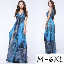 wholesale ladies dress bohemian style big size