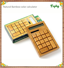 Manufacturer Promotional with cheap price Bamboo Calculator and pen for student/businese/school/pregnancy