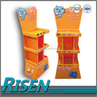 supermarket plastic corrugated retail display stand/shelf/rack for promotion