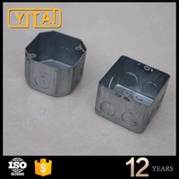 British Style 3 Gang Galvanized metal switch junction box