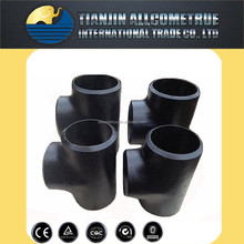 Butt welded BW equal tee 90 degree tee carbon steel pipes fitting ASTM A234 WPB amse ansi B16.9