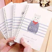 Cute Animal School Diary Notebook Paper
