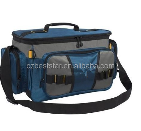 Soft-Sided Fishing Tackle Bag 2 Large Utility Boxes Blue Ora