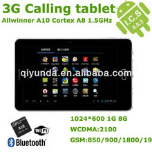 New Product 7 inch 3G Phone Call Tablet Allwinner A10 1GB 8GB Tablet