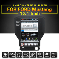 HD 10.4inch screen car stereo for FORD Mustang with high quality of TPMS,BT,SD,GPS Navigation