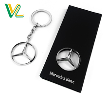 Manufacturer High Quality Zinc Alloy Mercedes-Benz Swivel Chain Color Key Chain with packing