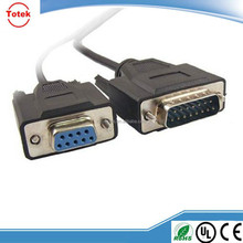 DB15 to DB9 cable / female super monitor vga cable