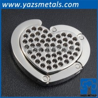 heart shape metal bag hanger purse hook for sales