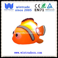 eco-friendly plastic lighted clown fish glowing Nemo bath animal toy