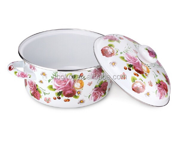 non-stick enamel cookware/ strait pot from china